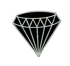 Patch backpack black diamond gem gemstone iron on glue carat retro jewelry