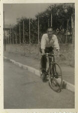 PHOTO ANCIENNE - VINTAGE SNAPSHOT - VÉLO BICYCLETTE HOMME - BIKE BICYCLE MAN