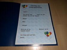 3 Einladungskarten Kindergeburtstag, Motiv: Luftballons - für Jungen und Mädchen