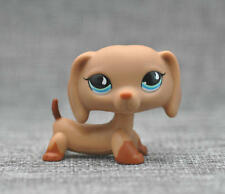 Littlest Pet Shop LPS Tan Dachshund Dog #1211 Blue DOT Eyes Loose Figure Child
