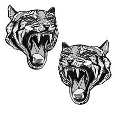 VEGASBEE® TWO TIGER HEAD EMBROIDERED PATCH IRON-ON APPLIQUÉ FASHION PATCHES SET