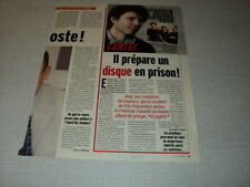 H190 BERTRAND CANTAT NOIR DESIR '2005 FRENCH CLIPPING