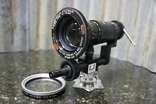 ULTRA RARE Angineux Zoomar 15-150mm 2.8 C Mount Cinema Lens w/Zoom & Focus Rail