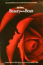 Beauty and the Beast - original DS movie poster - 27x40 D/S 2002 Re-release