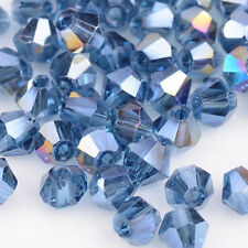300pcs ink blue AB Glass Crystal 4mm #5301 Bicone Beads loose beads  @