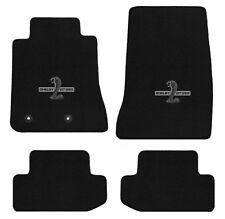 NEW! 2015-16 Ford Mustang Black Floor mats Carpet Shelby Cobra Snake GT350 Logo