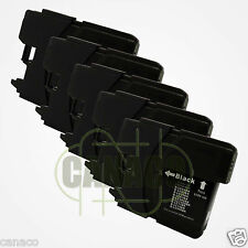 5 Black LC61 Ink Cartridge for Brother MFC-490CW Printer