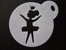 Corte láser Pequeña Princesa Bailarina diseño Cookie, Craft & Plantilla de Pintura de cara