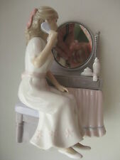"Porcelain Figure Designed by Annie Rowe Leonardo Collection ""Pretty Reflection"""