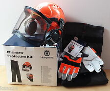 HUSQVARNA Protective Chainsaw Safety Kit - Helmet Gloves Leggings 576430001