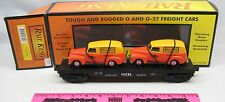 Rail King by M.T.H. 30-7681 MTH Transport flat car with ERTL '51 Panel vans