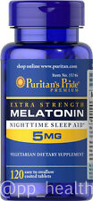 Puritan's Pride Melatonin 5 mg 120 Tablets Improve Sleep Quality Unisex