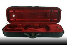 Petz 4/4 ultraleichtes rechteckiges Geigenetui schwarz/rot Etui Violin Case