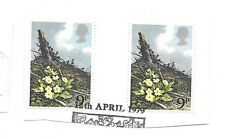 9p nature stamps x 2 - posted 12th April 1979 - see scan for details