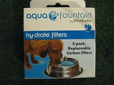 AQUA FOUNTAIN~PET SAFE~HYDRATE FILTER 3-PACK~HY-DRATE REPLACEABLE CARBON FILTERS