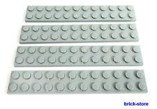 LEGO®   /  2x12 Platten hellgrau / 4 Stück