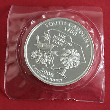 SOUTH CAROLINA 2000 1 TROY OUNCE .999 FINE SILVER PROOF ROUND - mint sealed pack