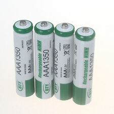 4 Pcs AAA 1350mAh Ni-MH Rechargeable Battery Batteries for Camera Toys