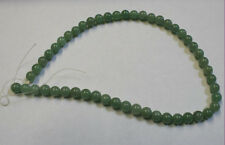NATURAL GREEN JADE 16IN STRAND OF ROUND GEMSTONE 50 BEADS 8MM 150CT GEM