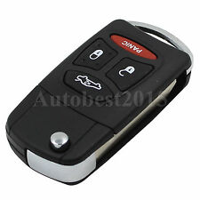 Replacement Flip Remote Key Shell Fob 4 Button For Chrysler Sebring Dodge Jeep