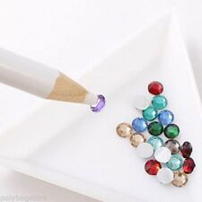 2 Strass Picker Matita Penna Crystal GEM Nail Art strumento Accessorio Regalo EJ