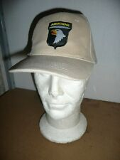 Casquette beige AIRBORNE 101 st ( SCREAMING EAGLES paratrooper AIRSOFT PAINTBALL