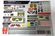HASBRO TRANSFORMERS COMBINER WARS STICKER FOR DEVASTATOR