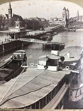 Stereoscope - Looking Down Rhine, Steamers To Hohenzollen Bridge, Cologne