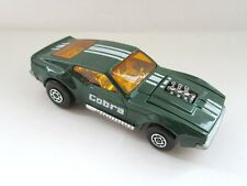 Matchbox Superfast 44b Boss Mustang 'COBRA' - Dark Green - Dark Amber Glass