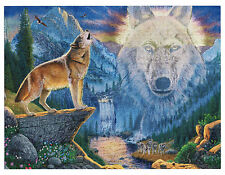 """Mountain Wolf - Dufex Foil Picture Print - size 6"""" x 8"""""""