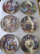 6 x Bradex Sammelteller Weimarer Porzellan Besuch bei den Großeltern Weihnachten