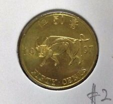 HONG KONG  Commemorative 50 cents coin 1997 Ox  UNC/BU  #2