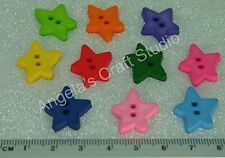 25 STAR BRIGHT NOVELTY Buttons New - Great for Sewing & Many Craft Projects *