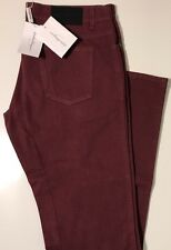 NWT SALVATORE FERRAGAMO Men's BLACK CHERRY DENIM SLIM JEANS Size 36/36