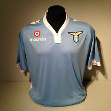 SS Lazio Football Soccer Baby Blue Macron Home Jersey Kit Lrg Rome Italy Vintage
