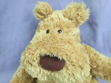 LENOVIA GOLDEN BROWN TEDDY BEAR  POTBELLY SITS DOWN SOFT PLUSH STUFFED ANIMAL