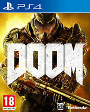 BRAND NEW SEALED DOOM PS4 GAME + BONUS MONSTER MULTIPLAYER PACK (BOX DAMAGED)