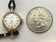 VINTAGE ROLEX 14K SOLID WHITE GOLD HAND WINDING WATCH.PETITE.WORKS LIKE A CHARM