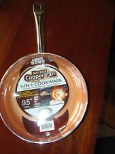 "New 9.5"" Non-Stick Copper Pan 5-in-1 Cookware Oven Safe to 550 Degrees TV( G-3 )"