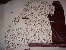 Women's 3 pieces Tan & Brown Salwar Kameez (Used once) Size: Large