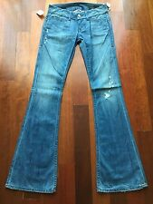 $185 William Rast Premium Lowrise Savoy Flare Jeans 27 X 32
