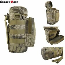 Military Tactical Camping Hiking Camo Molle Zipper Water Bottle Pouch Bag Holder