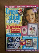 CROSS STITCH CRAZY MAGAZINE # 8 WEDDING ANEMONES TEDDIES DELFTWARE