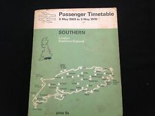 OLD VINTAGE 1969 SOUTHERN RAILWAY PASSENGER TIMETABLE