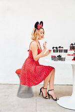Lauren Conrad Minnie Mouse Dress Size 16 NEW WITH TAGS TRUE RED