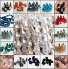 10/50/100pcs 10X14mm CONE Faceted glass crystal Charm Loose Spacer beads