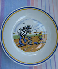 Russian Plate cartoon Woolf and Rabbit made GDR Germany porcelain Ну погоди !