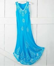 Women's Embroidered Sleeveless Dress Bathing Suit Cover-Up Plus 2X 22/24