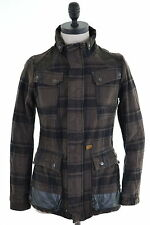 G-Star Womens Jacket Small Khaki Check Cotton