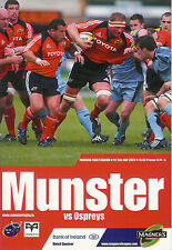 Munster v Ospreys Magners League 15 May 2009 Limerick RUGBY PROGRAMME